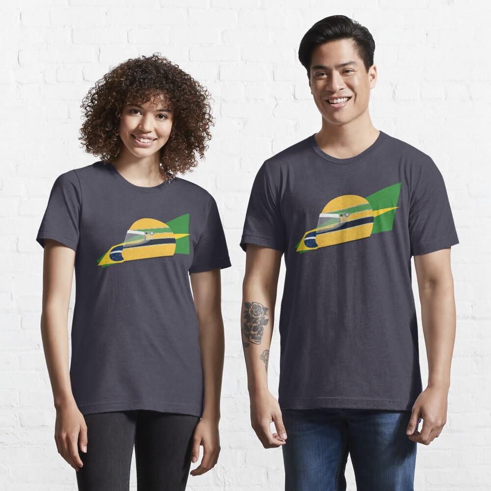 80s Brazilian racing driver helmet Essential T-Shirt