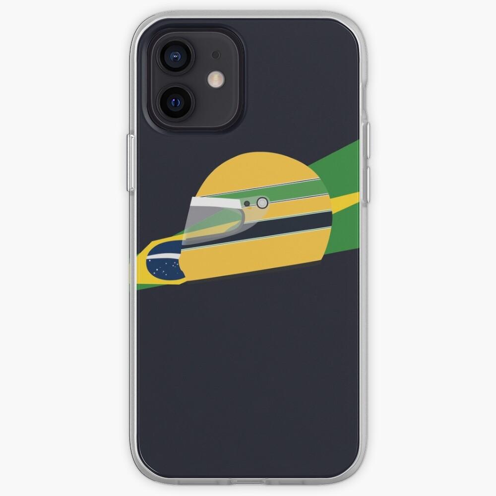 80s Brazilian racing driver helmet iPhone Case & Cover