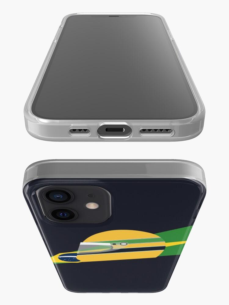Alternate view of 80s Brazilian racing driver helmet iPhone Case & Cover