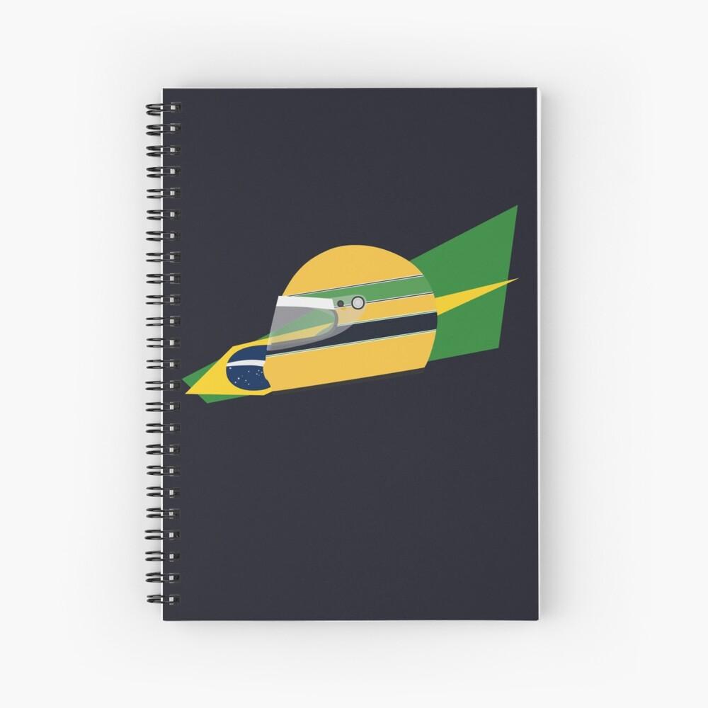 80s Brazilian racing driver helmet Spiral Notebook