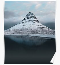 Moody Mountain in Iceland - Landscape Photography Poster