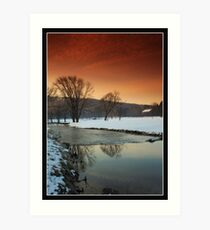 Morning On Saucon Creek #5 Art Print