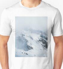 Italian Mountain Peak in the Fog - Landscape Photography Unisex T-Shirt