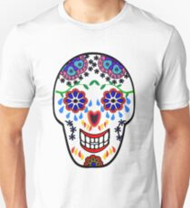 Sugar Skull Pattern (Orange) Unisex T-Shirt