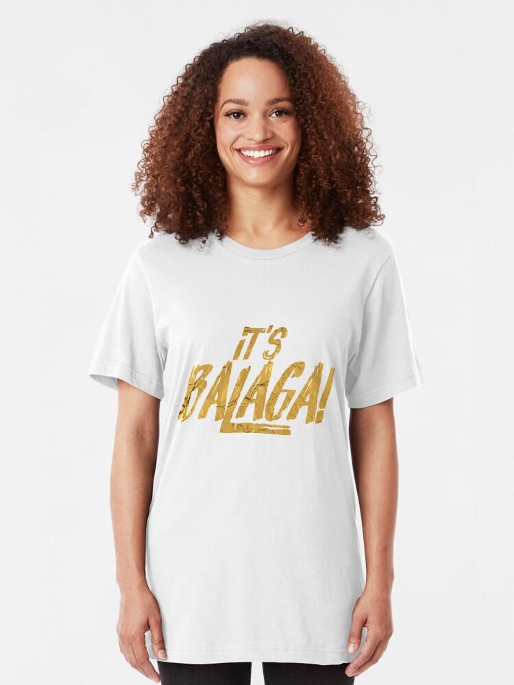 Vista alternativa de Camiseta ajustada Es Balaga   Natasha, Pierre y el gran cometa de 1812