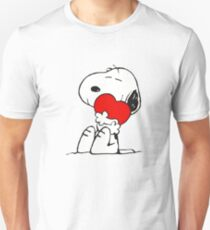 SNOOPY LOVE HUGGING Unisex T-Shirt