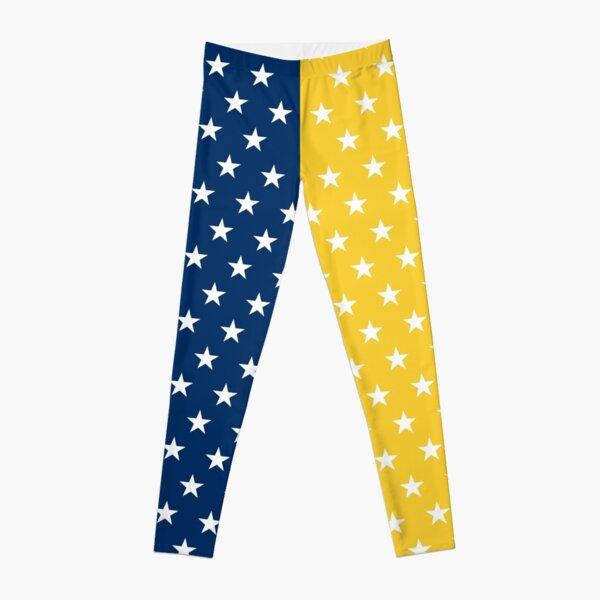 Blue and Yellow Stars Leggings