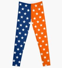 Blue and Orange Stars Leggings