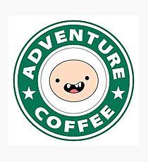 Adventure Finn Coffee Photographic Print
