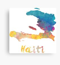Haitian Watercolor Country Canvas Print