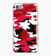 Red and White Army Print iPhone Case/Skin