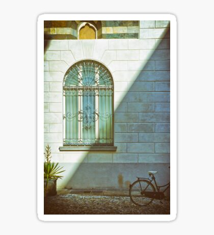 Window, shadow and bicycle Sticker