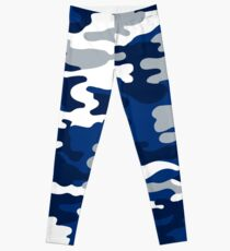 Blue and White Army Leggings