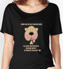 THERE ARE NO UGLY RESCUE DOGS! Women's Relaxed Fit T-Shirt