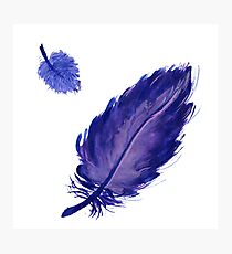 Watercolor lilac feathers Photographic Print
