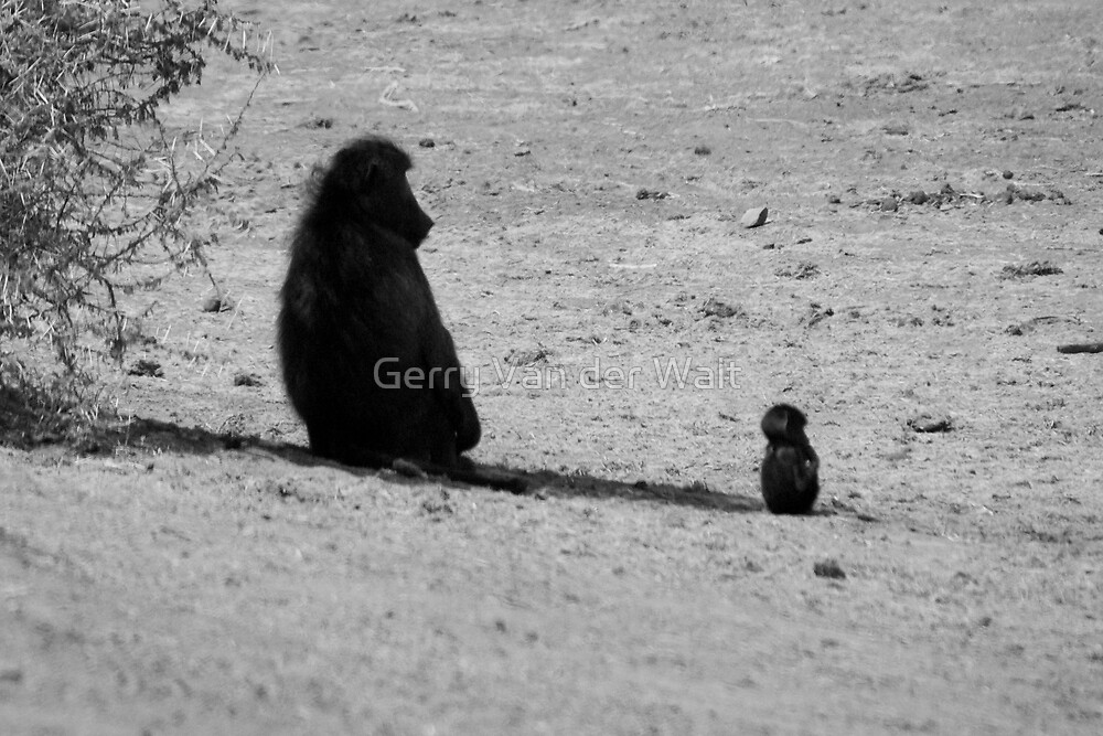We All Grow Up One Day (B&W) by Gerry Van der Walt