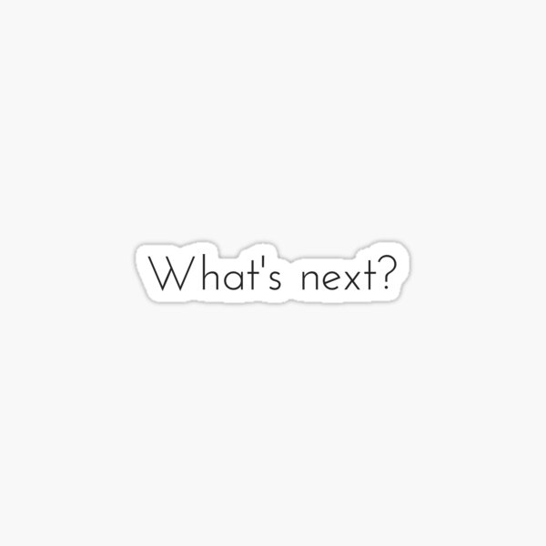 What's next? West Wing Quote Sticker
