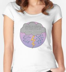 Low-Key No Pressure, just hang with me and my weather, Rose-Coloured Boy, Paramore Women's Fitted Scoop T-Shirt