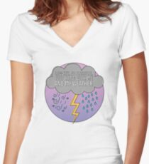 Low-Key No Pressure, just hang with me and my weather, Rose-Coloured Boy, Paramore Women's Fitted V-Neck T-Shirt