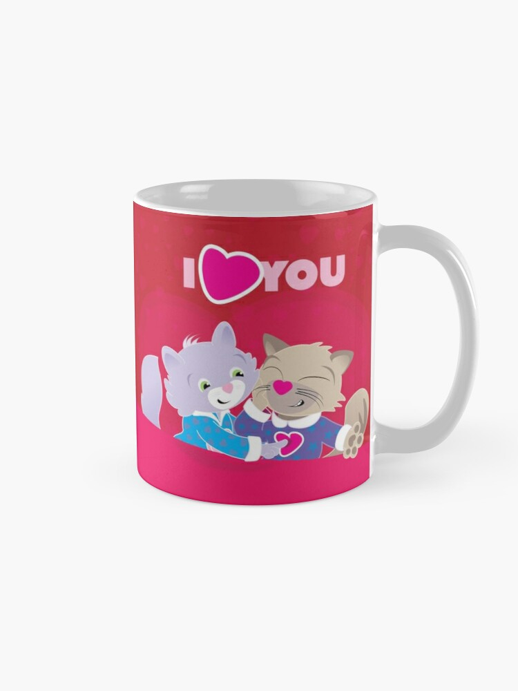 Alternate view of I Heart You Jammie Cats Mug