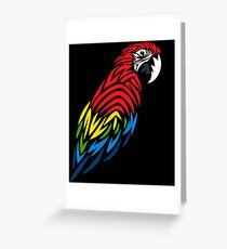 Parrot Greeting Cards Redbubble
