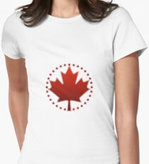 Canada Day Womens Fitted T-Shirt