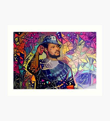 Abstract Schoolboy Q Art Print