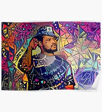 Abstract Schoolboy Q Poster