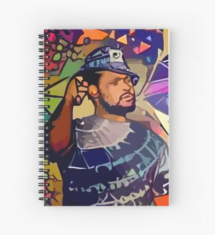 Abstract Schoolboy Q Spiral Notebook