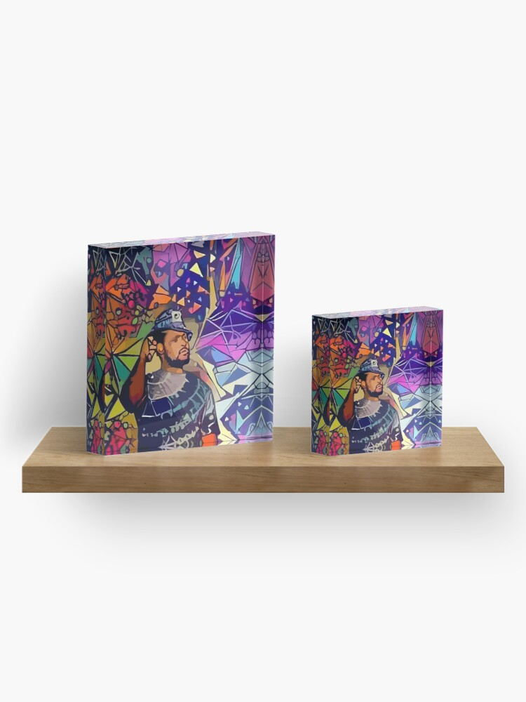 Alternate view of Abstract Schoolboy Q Acrylic Block