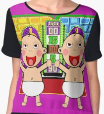 TV Game Show - TPIR (The Price Is...) Baby On the Way Twins2 Chiffon Top