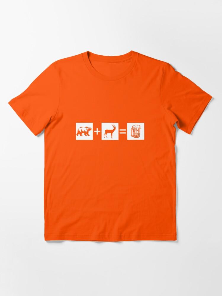 Alternate view of Bear + Deer = Beer Essential T-Shirt