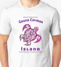 GRAND CAYMAN ISLAND CARIBBEAN SEA SOUTH BAHAMAS TRADING TRIBAL TURTLE Unisex T-Shirt