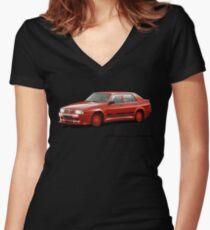 Alfa Romeo 75 Evoluzione Women's Fitted V-Neck T-Shirt