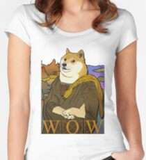 Mona Doge Women's Fitted Scoop T-Shirt