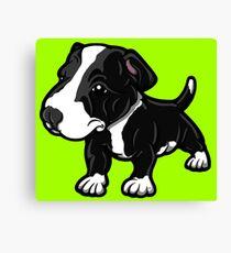 Black And White EBT Puppy  Canvas Print