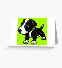 Black And White EBT Puppy  Greeting Card