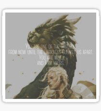 Heir of Fire- You are mine and I am yours Sticker