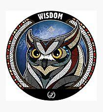 Tribal Owl Photographic Print