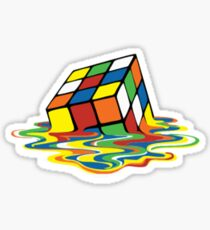 Melting Rubix Cube Design! All Items Available! Sticker
