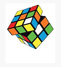 Twisting / Spinning Rubix Cube Design Photographic Print