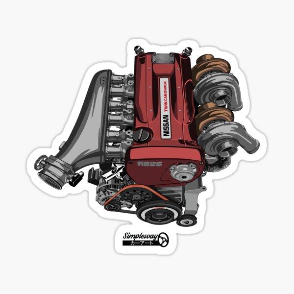 RB26DETT Skyline GT-R engine Sticker