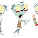 Fred The Zombie - Trio by Calvin Innes