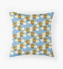 Busy Bee in Ocean Throw Pillow