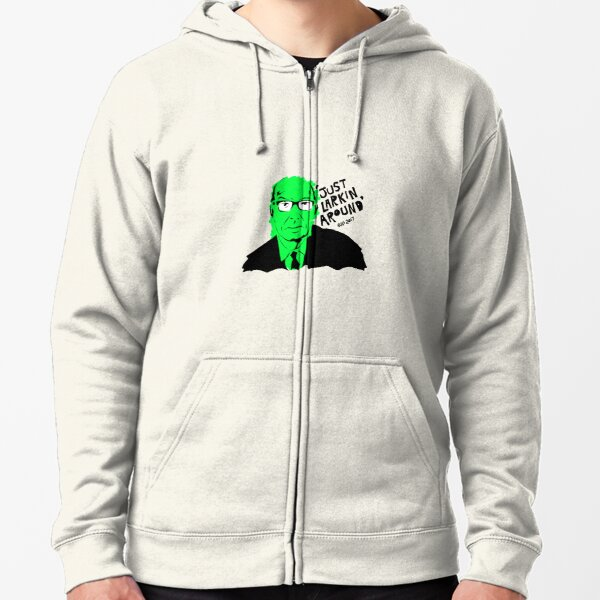 Just Larkin Around - Green Zipped Hoodie