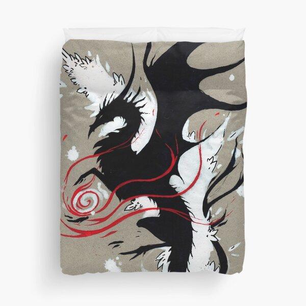 BLACK DRAGON RIBBONS Duvet Cover