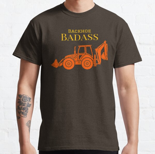 Backhoe Badass Camiseta clásica