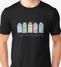 Painted Ladies Victorian Houses San Francisco Slim Fit T-Shirt