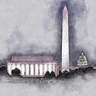 Fog Over Washington by mrthink