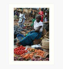 Kampala Markets Art Print